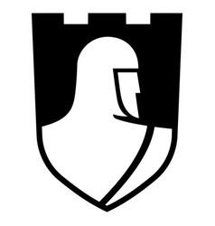 Knightly design knight templar in a heraldic vector