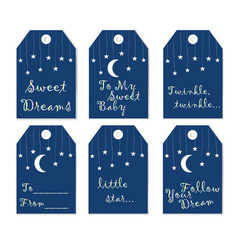 Label-set sweet dreams vector