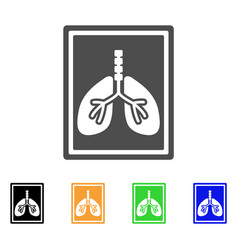 lungs fluorography flat icon vector image