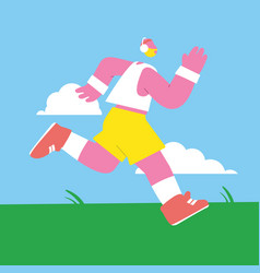 man male guy runner club sport jogging vector image