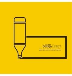 Marker pen vector