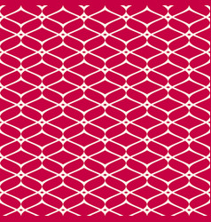Mesh seamless pattern red and white luxury vector