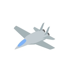 Military aircraft icon comics style vector