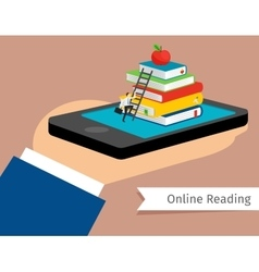 Mobile library in smartphone vector image