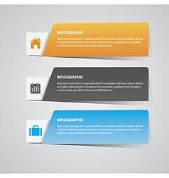 Modern infographic vector