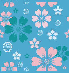 pattern 0090 spring flowers vector image