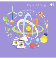 Physics energy vector image