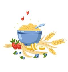 Porridge vector image