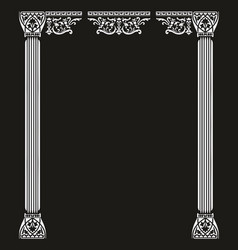 Portal with two columns vector