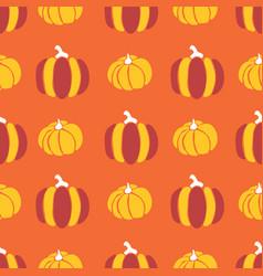Pumpkins seamless pattern pumpkins red vector