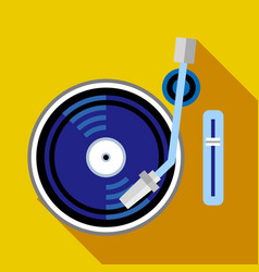 record player phonograph icon flat style vector image