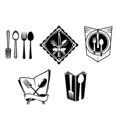 Restaurant menu icons and symbols vector
