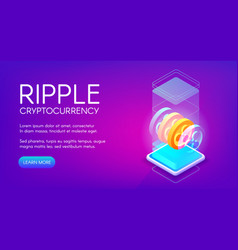 Ripple cryptocurrency vector