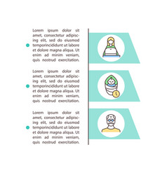 Risk factors concept icon with text vector
