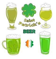 saint patrick beer pints vector image
