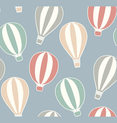 seamless vintage texture with stickers hot air vector image