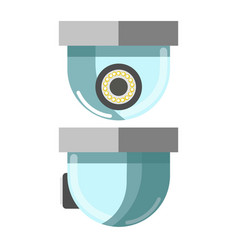 Security cctv camera in front and side view vector