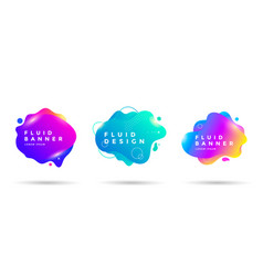 set abstract liquid shape banner design vector image