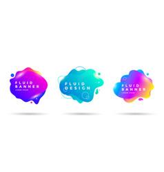 set abstract liquid shape banner design vector image