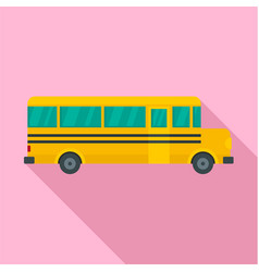 side of school bus icon flat style vector image