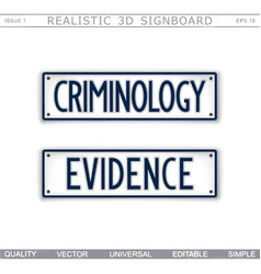 Signboard design criminology evidence vector