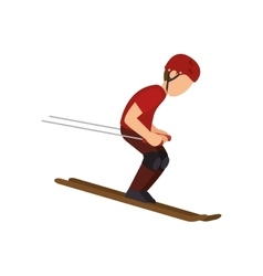 Ski Extreme sport athlete avatar vector