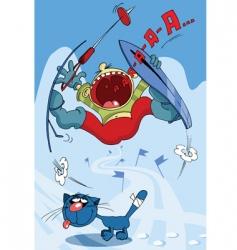 ski slope cartoon vector image