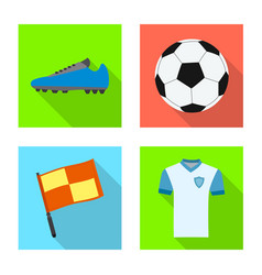 soccer and gear icon vector image