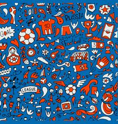 soccer tournament football league team vector image