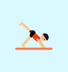 Sport player gymnast boy vector