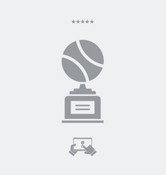 sports cup - web icon vector image