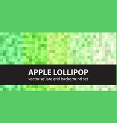 Square pattern set apple lollipop seamless pixel vector