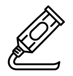 Toothpaste tube icon outline style vector