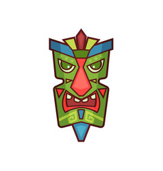 Tribal mask colorful traditional face masque vector