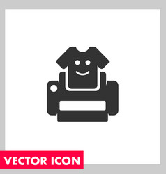 Tshirt print icon vector