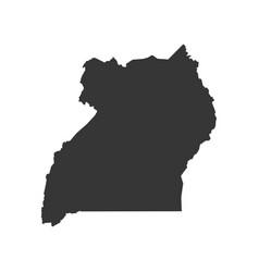 uganda map outline vector image