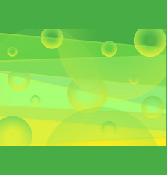 vibrant green and yellow minimal abstract vector image
