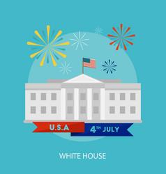 white house conceptual design vector image