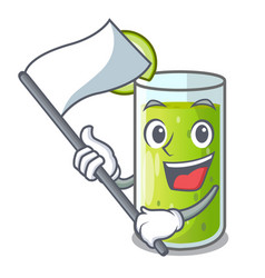 with flag sweet cucumber juice isolated on mascot vector image