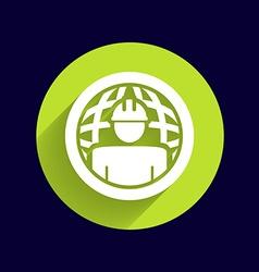 Workman Global search icon button logo symbol vector image