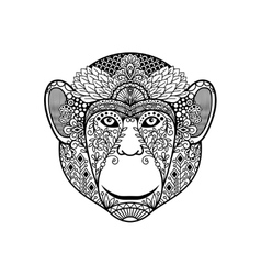 Zentagle monkey head vector