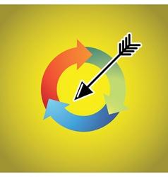 Arrow Cycle vector image