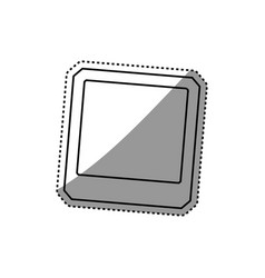 blank instant photography vector image