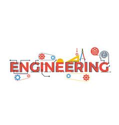 Engineering word vector image vector image