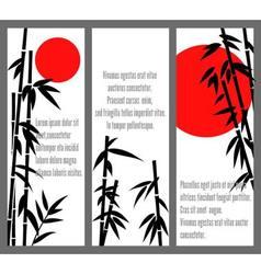 Japanese bamboo tree cards design or chinese bambu vector image vector image
