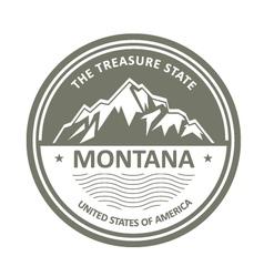 Montana Mountains - Snowbound mountain label vector image