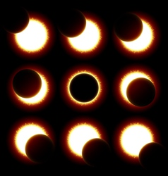 Solar Eclipse phases vector image vector image