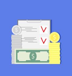 Budget planning vector