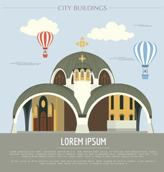 City buildings graphic template Macedonia vector image