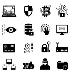 cyber security data protection hacker and vector image
